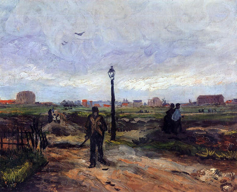 Vincent Van Gogh The Outskirts of Paris - Hand Painted Oil Painting