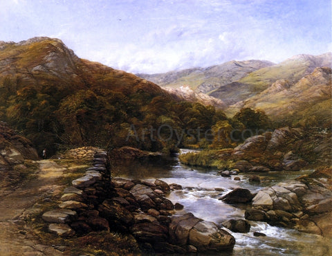 Thomas Creswick Over the Hills and Far Away - Hand Painted Oil Painting