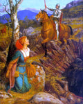 Arthur Hughes Overthrowing of the Rusty Knight - Hand Painted Oil Painting
