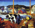 George Wesley Bellows An Ox Team, Wharf at Matinicus - Hand Painted Oil Painting