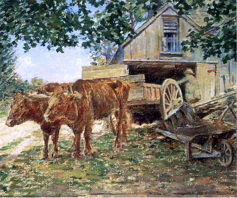 Theodore Robinson Oxen - Hand Painted Oil Painting