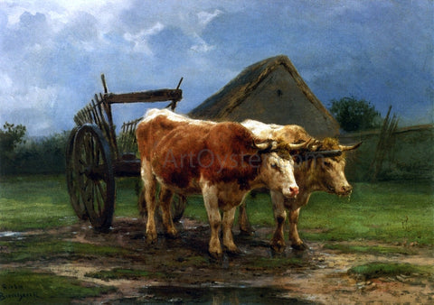 Rosa Bonheur Oxen Pulling a Cart - Hand Painted Oil Painting
