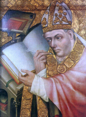 Master Theoderic Painting of a Saint - Hand Painted Oil Painting