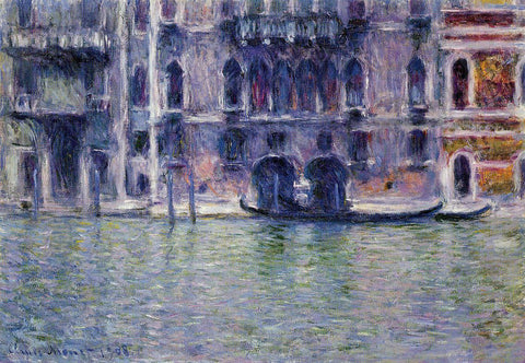 Claude Oscar Monet Palazzo da Mula - Hand Painted Oil Painting