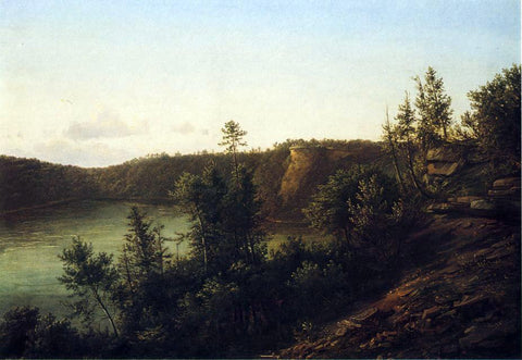 Thomas Doughty Palisades Near Fort Lee - Hand Painted Oil Painting