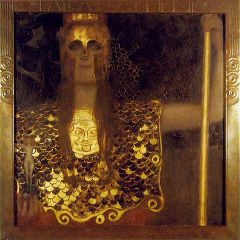 Gustav Klimt Pallas Athene - Hand Painted Oil Painting