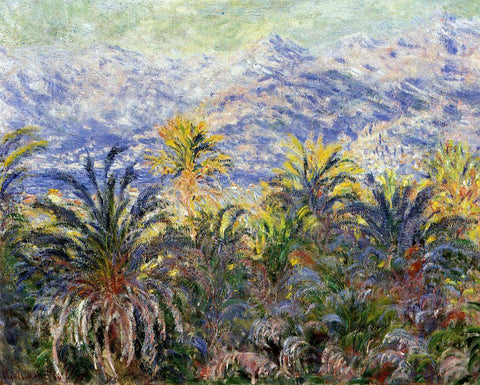 Claude Oscar Monet Palm Trees at Bordighera - Hand Painted Oil Painting