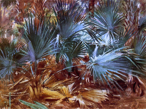John Singer Sargent Palmettos - Hand Painted Oil Painting