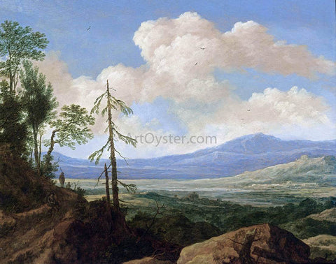 Pieter De Molyn Panoramic Hilly Landscape - Hand Painted Oil Painting