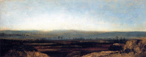 Theodore Rousseau Panoramic Landscape on the Outskirts of Paris - Hand Painted Oil Painting