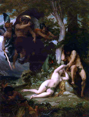 Alexandre Cabanel Paradise Lost (also known as The Expulsion of Adam and Eve from the Garden of Paradise) - Hand Painted Oil Painting
