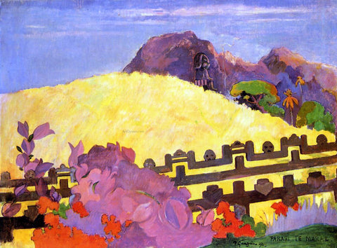 Paul Gauguin Parahi te Marae (also known as There Lies the Temple) - Hand Painted Oil Painting
