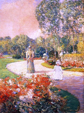 Frederick Childe Hassam Parc Monceau, Paris - Hand Painted Oil Painting