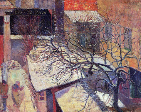 Paul Gauguin Paris in the Snow - Hand Painted Oil Painting