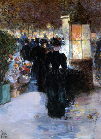 Frederick Childe Hassam Paris Nocturne - Hand Painted Oil Painting