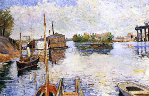 Paul Signac Paris, Ponton des Bains Bailet - Hand Painted Oil Painting