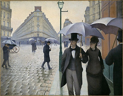 Gustave Caillebotte Paris Street, Rainy Day - Hand Painted Oil Painting