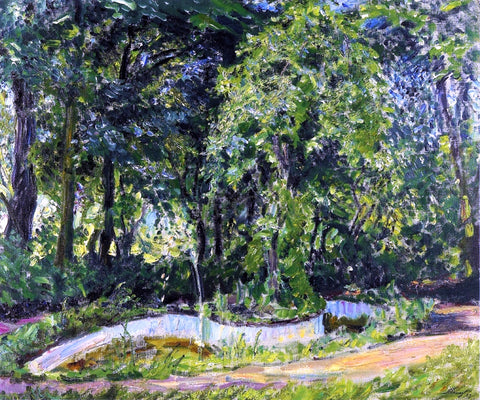 Max Slevogt Park Landscape in the Palatinate - Hand Painted Oil Painting