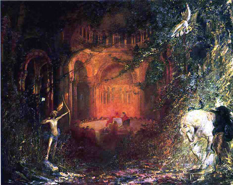 Pinckney Maricius-Simons Parsifal and the Knights of the Holy Grail: Scenes from Act I - Hand Painted Oil Painting