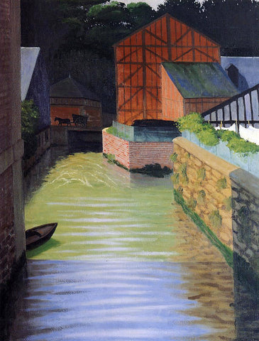 Felix Vallotton Part of the Town of Pont-Audemer - Hand Painted Oil Painting