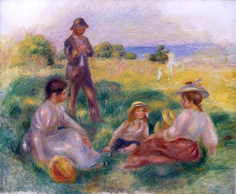 Pierre Auguste Renoir Party in the Country at Berneval - Hand Painted Oil Painting