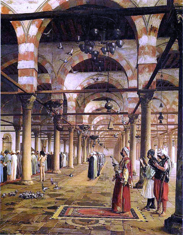 Jean-Leon Gerome Prayer in the Mosque - Hand Painted Oil Painting