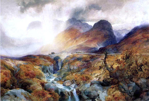 Thomas Moran Pass at Glencoe, Scotland - Hand Painted Oil Painting