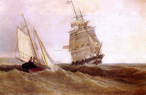 William Bradford Passing Ships - Hand Painted Oil Painting