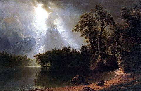 Albert Bierstadt Passing Storm over the Sierra Nevada - Hand Painted Oil Painting