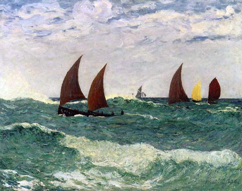 Maxime Maufra Passing through the Bar - Hand Painted Oil Painting