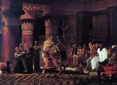 Sir Lawrence Alma-Tadema Pastimes in Ancient Egypt, 3,000 Years Ago - Hand Painted Oil Painting