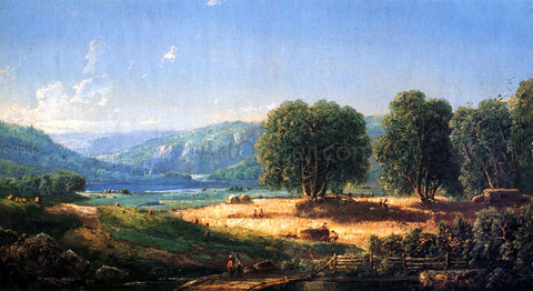 William Louis Sonntag Pastoral Landscape (also known as Spring on the Little Miami, Ohio) - Hand Painted Oil Painting