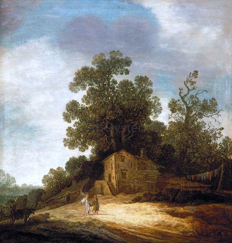 Pieter De Molyn Pastoral Landscape with Tobias and the Angel - Hand Painted Oil Painting