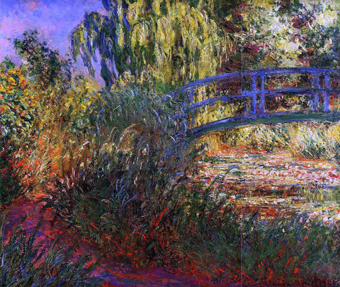 Claude Oscar Monet A Path along the Water-Lily Pond - Hand Painted Oil Painting