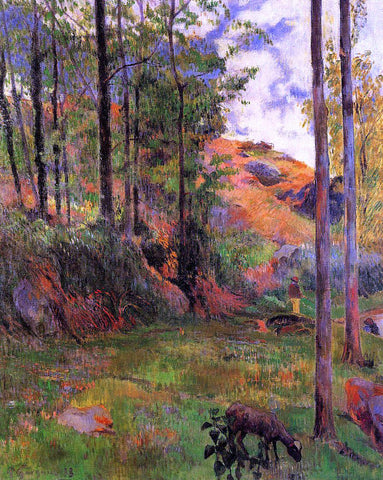 Paul Gauguin Path Down to the Aven - Hand Painted Oil Painting