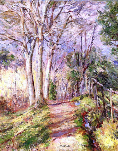 Theodore Robinson Path in Frascati - Hand Painted Oil Painting