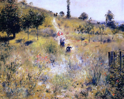 Pierre Auguste Renoir Path Leading through Tall Grass - Hand Painted Oil Painting