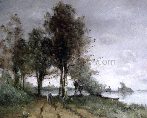 Paul Desire Trouillebert Path on the Banks of the Seine - Hand Painted Oil Painting
