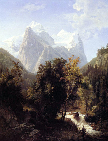 William Trost Richards Path Through the Mountains - Hand Painted Oil Painting