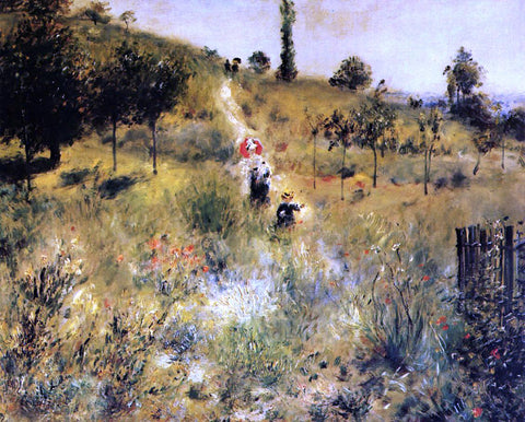 Pierre Auguste Renoir Path Winding through the High Grass - Hand Painted Oil Painting