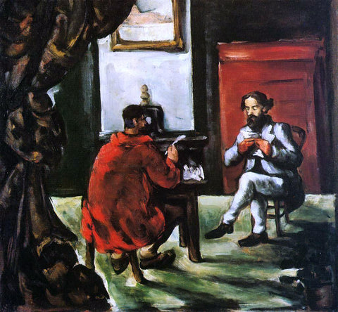 Paul Cezanne Paul Alexis Reading at Zola's House - Hand Painted Oil Painting
