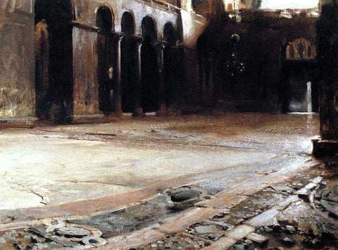 John Singer Sargent Pavement of St. Mark's - Hand Painted Oil Painting