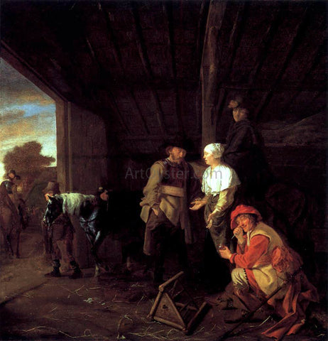 Ludolf De Jongh Paying the Hostess - Hand Painted Oil Painting