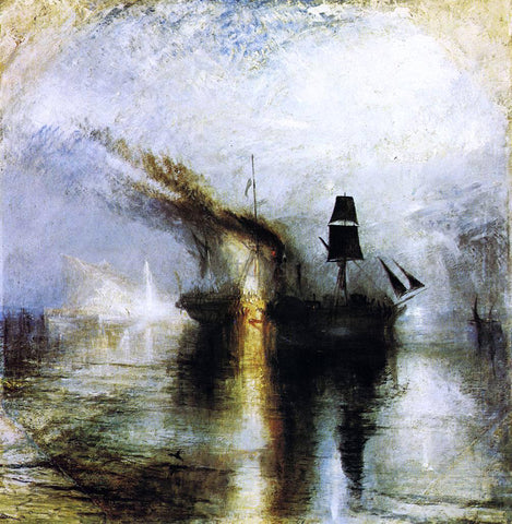 Joseph William Turner Peace - Burial at Sea - Hand Painted Oil Painting
