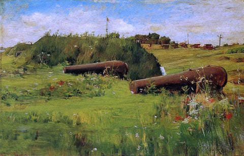 William Merritt Chase Peace, Fort Hamilton - Hand Painted Oil Painting