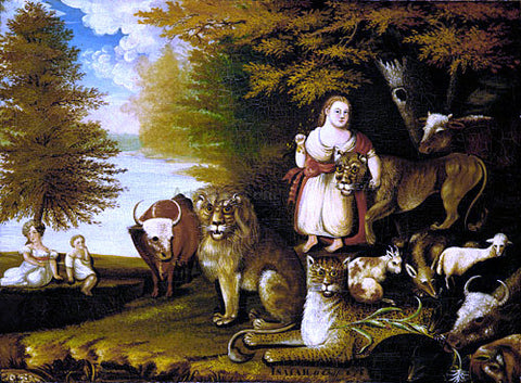 Edward Hicks Peaceable Kingdom - Hand Painted Oil Painting