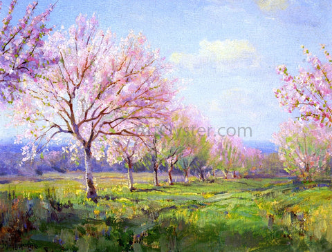 Julian Onderdonk Peach Orchard on Mavericks Farm - Hand Painted Oil Painting
