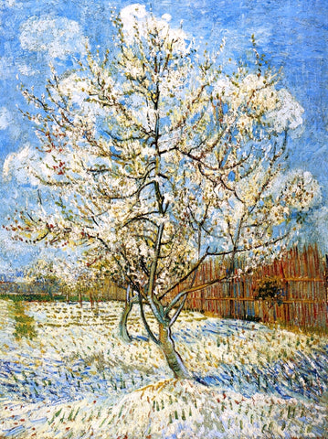 Vincent Van Gogh Peach Trees in Blossom - Hand Painted Oil Painting