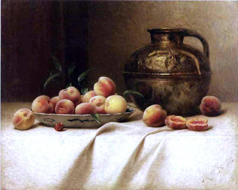 Milne Ramsey Peaches and Brass Jug - Hand Painted Oil Painting