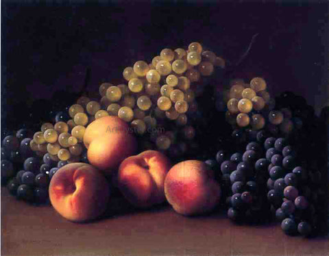 George Henry Hall Peaches and Grapes - Hand Painted Oil Painting